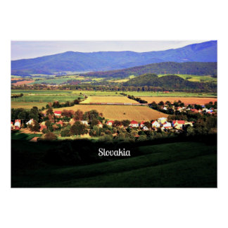 Slovakian Countryside Landscape Poster