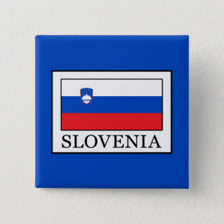 Slovenia 2 Inch Square Button