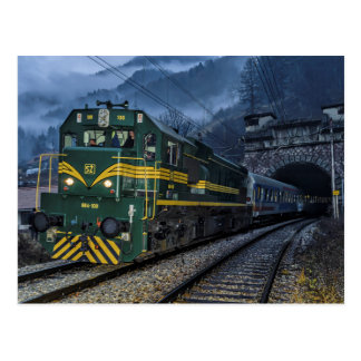 Slovenia / Austria: Diesel at border tunell. Postcard