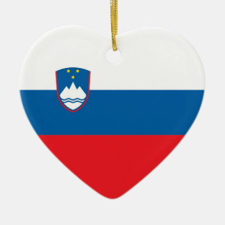 SLOVENIA CERAMIC HEART ORNAMENT