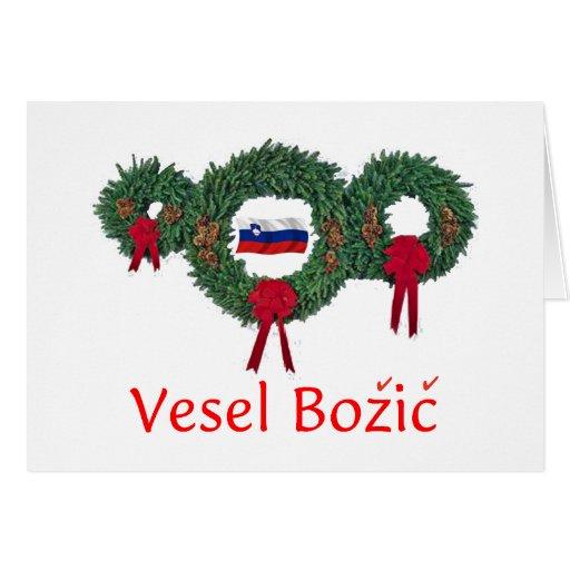 Slovenia Christmas 2 Card