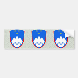 Slovenia Coat of Arms detail Bumper Sticker