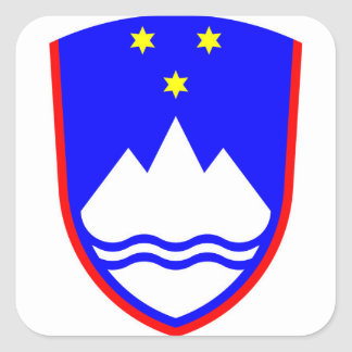 Slovenia Coat of Arms Square Sticker
