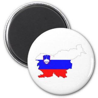 slovenia country flag map shape silhouette symbol magnet