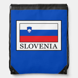 Slovenia Drawstring Bag