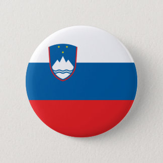 Slovenia Flag 2 Inch Round Button