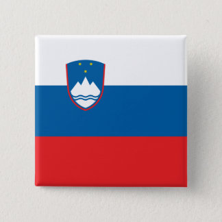 Slovenia Flag 2 Inch Square Button