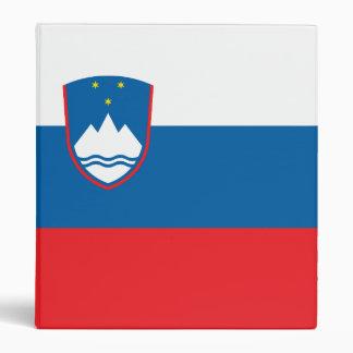 Slovenia Flag 3 Ring Binder