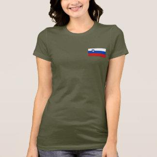 Slovenia Flag and Map dk T-Shirt