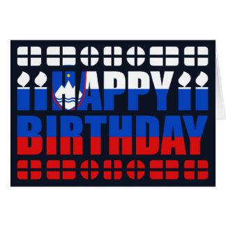 Slovenia Flag Birthday Card