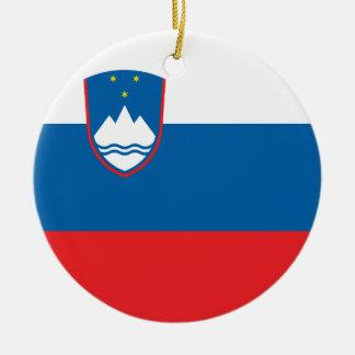 Slovenia Flag Ceramic Ornament