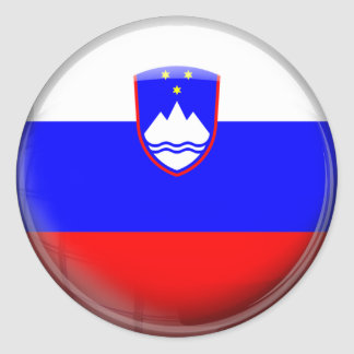 Slovenia Flag Classic Round Sticker