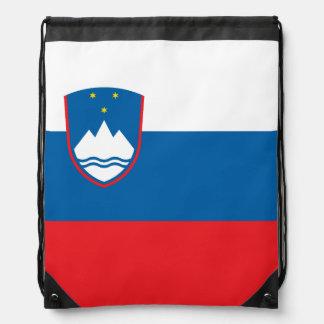 Slovenia Flag Drawstring Bag