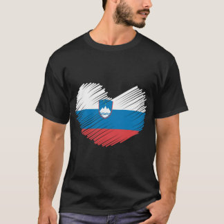 Slovenia Flag Heart T-Shirt