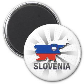 Slovenia Flag Map 2.0 Magnet