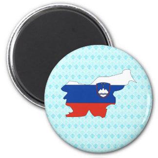 Slovenia Flag Map full size Magnet