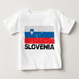 Slovenia Flag Vintage Baby T-Shirt