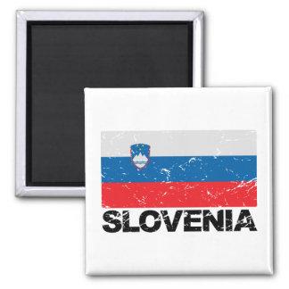 Slovenia Flag Vintage Magnet