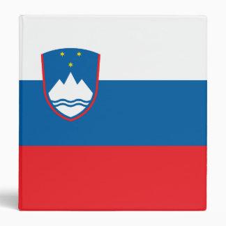 Slovenia Flag Vinyl Binder