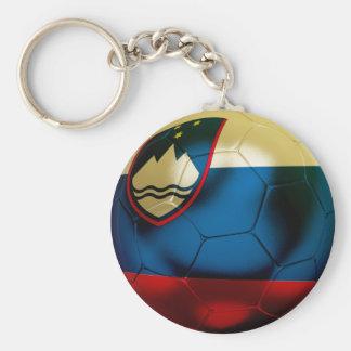Slovenia Football Basic Round Button Keychain