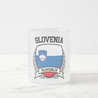 Slovenia Frosted Glass Coffee Mug