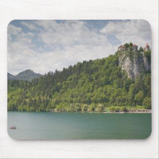 SLOVENIA, GORENJSKA, Bled: Bled Castle & Mouse Pad