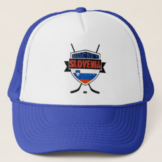 Slovenia Ice Hockey Shield Trucker Hat
