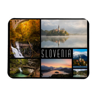 Slovenia landscapes collage travel photo magnet