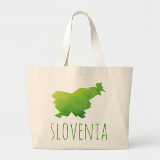 Slovenia Map Large Tote Bag
