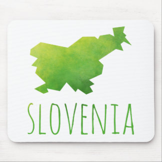 Slovenia Map Mouse Pad