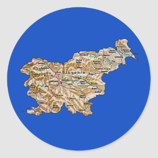 Slovenia Map Sticker