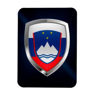 Slovenia Metallic Emblem Magnet
