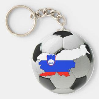 Slovenia national team basic round button keychain
