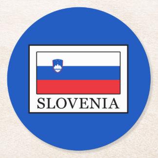 Slovenia Round Paper Coaster