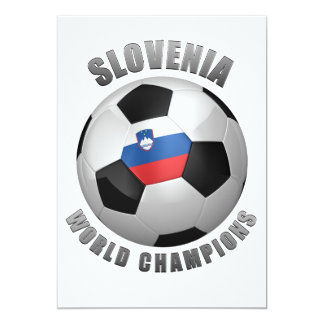 "SLOVENIA SOCCER CHAMPIONS 5"" X 7"" INVITATION CARD"