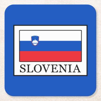 Slovenia Square Paper Coaster
