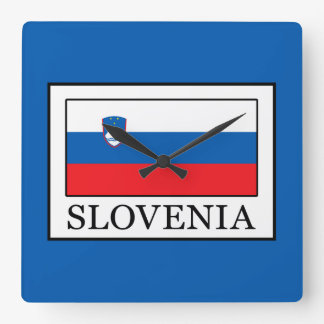 Slovenia Square Wall Clock