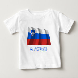 Slovenia Waving Flag with Name Baby T-Shirt