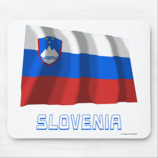 Slovenia Waving Flag with Name Mouse Pad