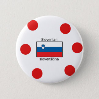 Slovenian Language And Slovenia Flag Design 2 Inch Round Button