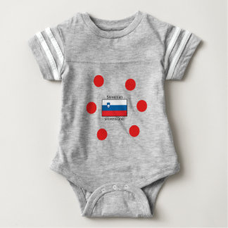 Slovenian Language And Slovenia Flag Design Baby Bodysuit