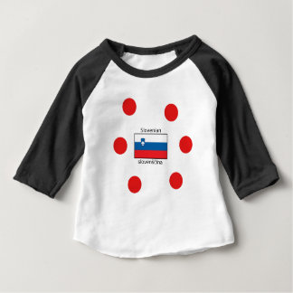 Slovenian Language And Slovenia Flag Design Baby T-Shirt