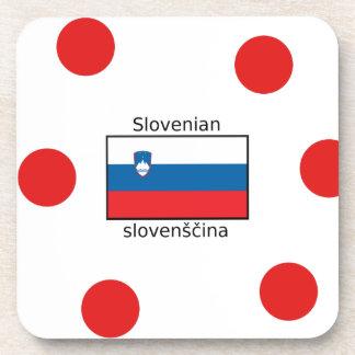 Slovenian Language And Slovenia Flag Design Coaster