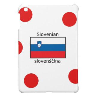 Slovenian Language And Slovenia Flag Design iPad Mini Covers
