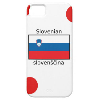 Slovenian Language And Slovenia Flag Design iPhone 5 Covers