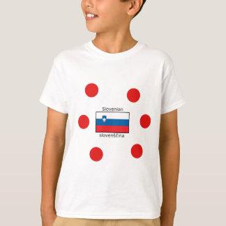 Slovenian Language And Slovenia Flag Design T-Shirt