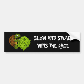 Slow And Steady Bumper Sticker