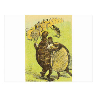 Slow Dance Turtles Postcard