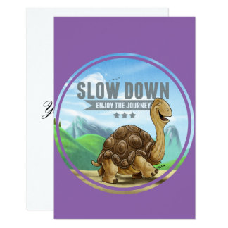 Slow Down Card Flat