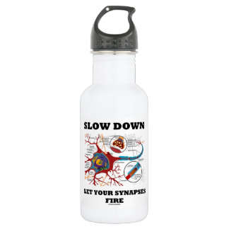 Slow Down Let Your Synapses Fire Neuron / Synapse 532 Ml Water Bottle
